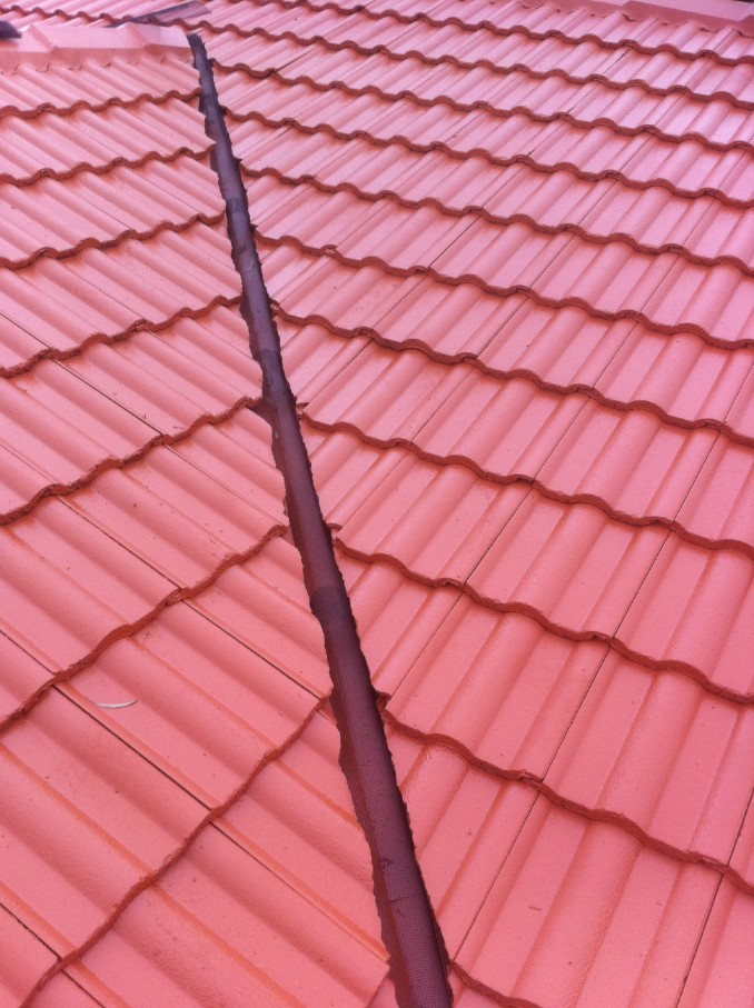 Ember guard valley cone used on tile roof