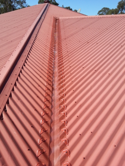 Gutter cover on valley